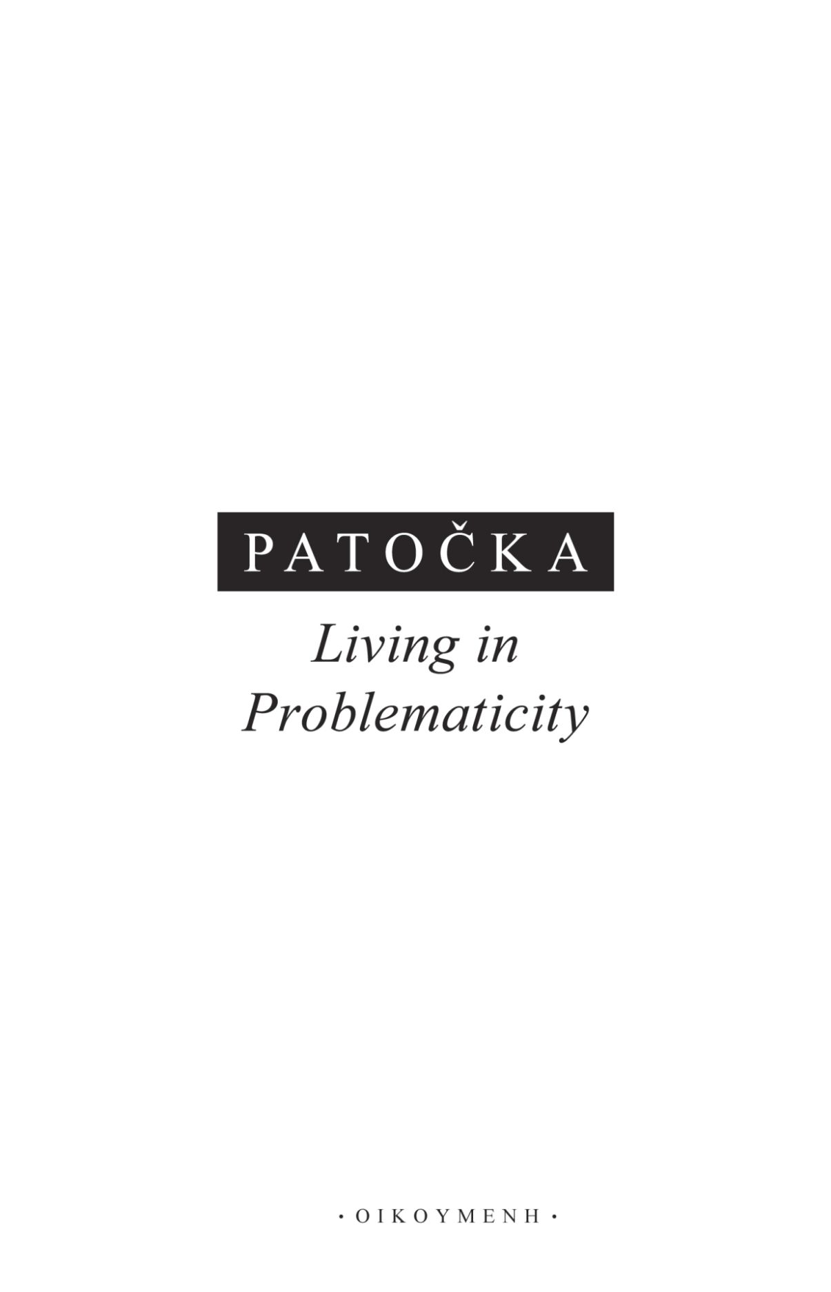Living in Problematicity Book Cover