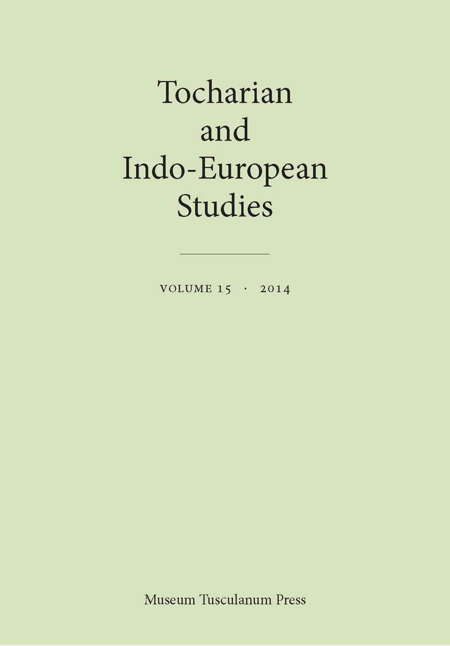 Tocharian and Indo-European Studies, Volume 15