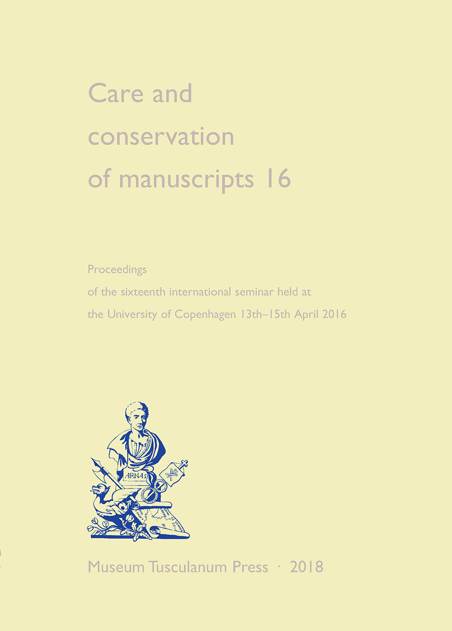 Care and Conservation of Manuscripts 16