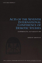 Acts of the Seventh International Conference of Demotic Studies, Copenhagen 23-27 August 1999