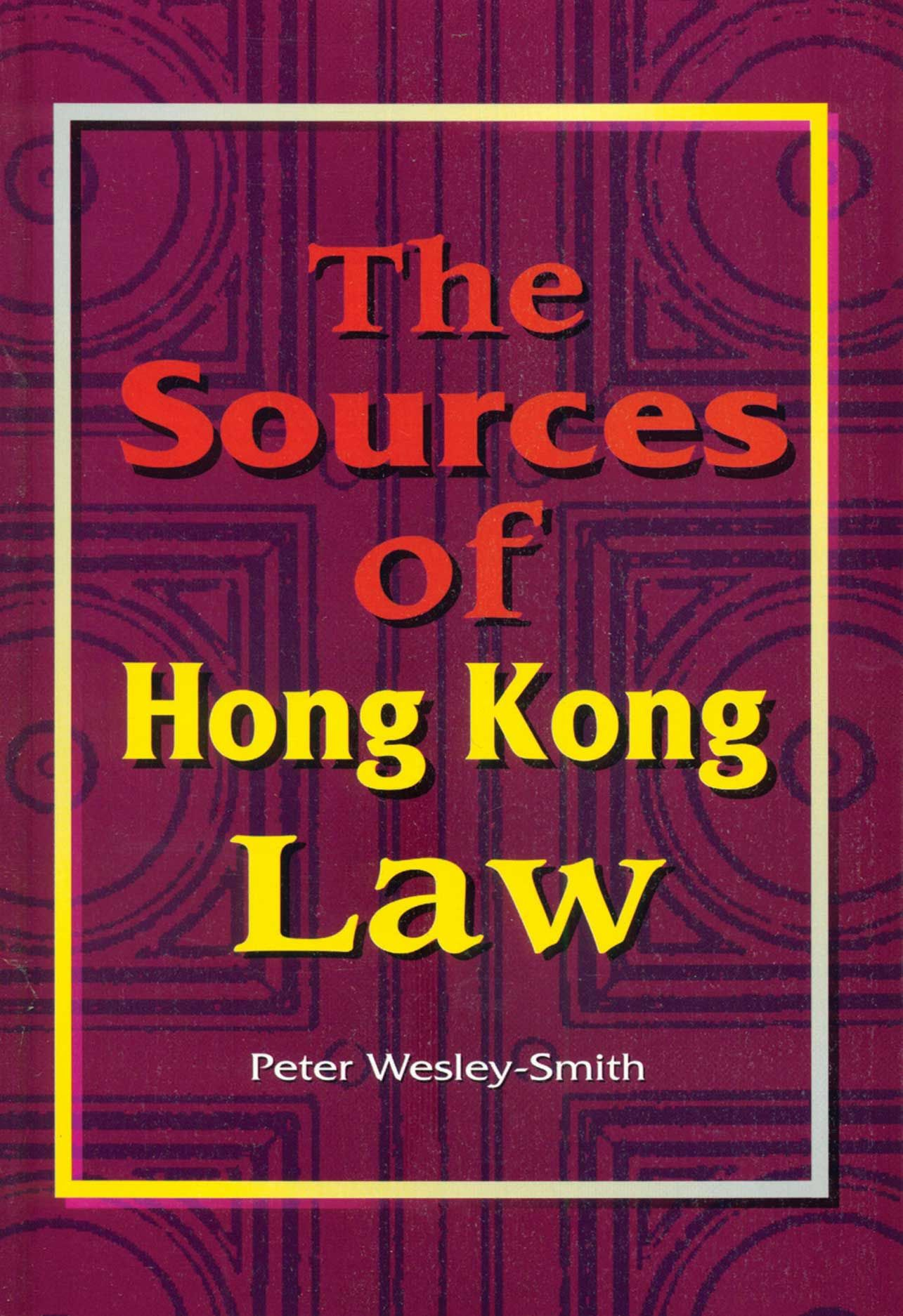 The Sources of Hong Kong Law