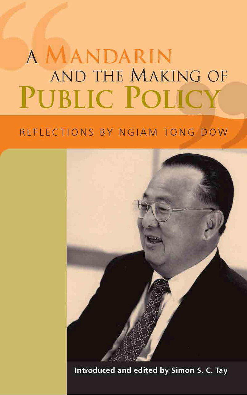 A Mandarin and the Making of Public Policy: Reflections
